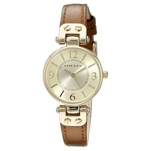 Anne Klein Leather Strap Watch