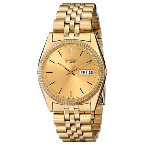 Seiko Men's Gold-Tone Dress Watch SGF206